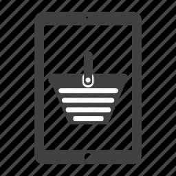 basket, buy, ecommerce, ipad, shipping, shop, shopping icon