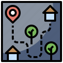 geography, interface, location, map, maps, orientation, position icon