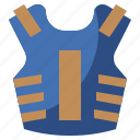 armor, bulletproof, protection, security, vest, weapons icon