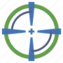 aim, archery, goal, shooting, sniper, target, weapons icon