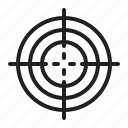 aim, paintball, radar, target icon