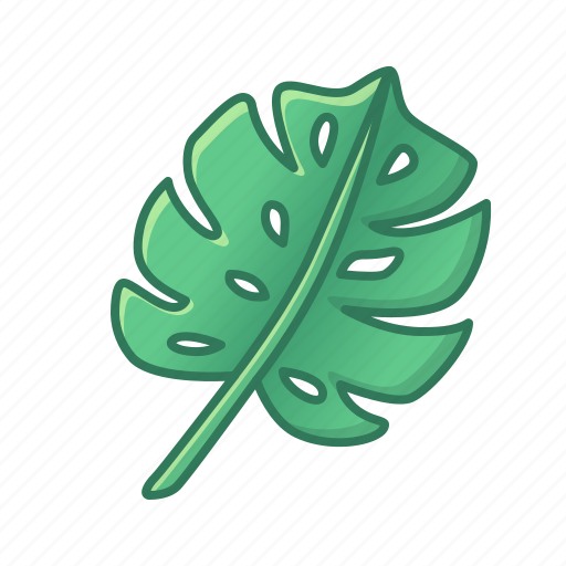 green, icons, leaf, leaves, monstera, nature, palm, tropic, tropical icon