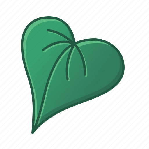 green, heart shaped, icons, leaves, nature, palm, tropic, tropical icon