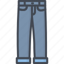 clothes, filled, jeans, outline, pants icon