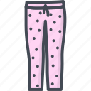 clothes, filled, outline, pajama, pants icon