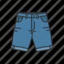 clothing, denim shorts, fashion, garment, male short, pants, shorts icon