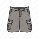 cargo pants, cargo trouser, clothing, fashion, jeans, military short icon