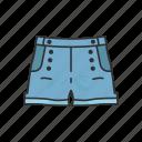 clothing, denim short, fashion, garment, jeans, pants, short icon