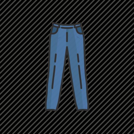 clothing, fashion, jeans, jogging pants, pants, track pants icon
