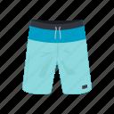 broadshorts, clothing, fashion, garment, men's short, swim short, swim wear icon