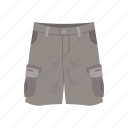 cargo pants, cargo trouser, clothing, fashion, jeans, military short, trouser short icon