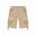 cargo pants, cargo trouser, clothing, fashion, military short, shorts, trouser short icon
