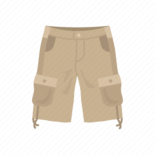 cargo pants, cargo trouser, clothing, fashion, military short, shorts, trouser short icon