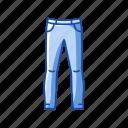 clothing, fashion jeans, garment, jeans, men's pants, pants icon
