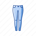 clothing, fashion, female pants, garment, jeans, skinny, skinny jeans icon