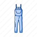 clothing, garment, jumper, pants, pinafore, pinafore pants, romper icon