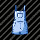 clothing, garment, jumper, pinafore, pinafore short, romper icon