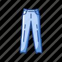 clothing, fashion, garment, jeans, men's pants, pants icon