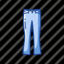 clothing, fashion, female pants, garment, pants, trouser icon
