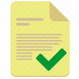 accept, contract, doc, document, file, paper icon