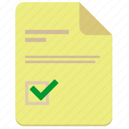 accept, document, file, ok, rule icon
