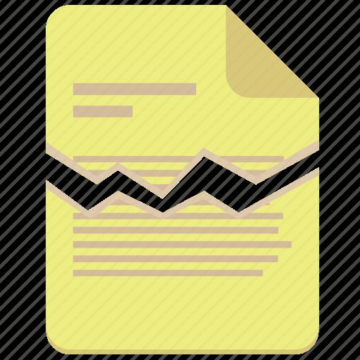 broken, contract, document, file, paper icon