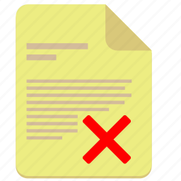 cancel, contract, document, paper, rule icon