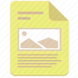 doc, document, file, photo, picture, text icon