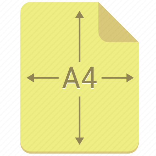 a4, doc, document, format, paper, print icon
