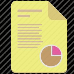 article, chart, doc, document, ecomonic, graph, paper icon