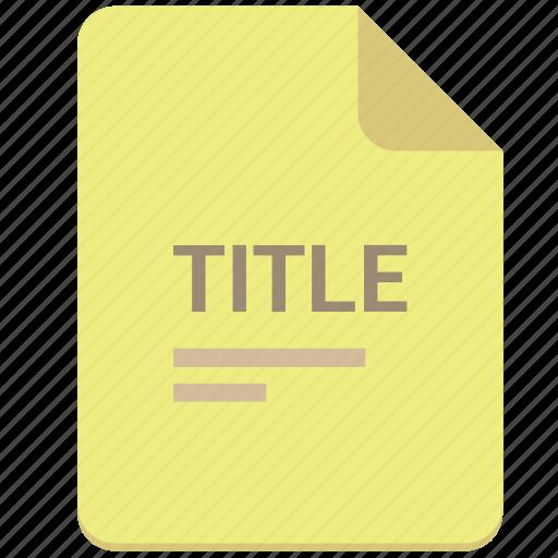 doc, document, list, paper, text, title icon