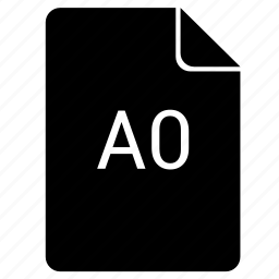 a0, format, paper, print icon
