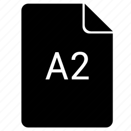 a2, format, paper, print icon