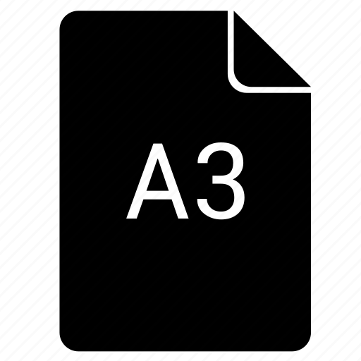 a3, format, paper, print icon