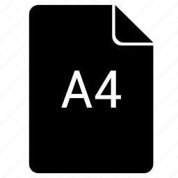 a4, format, paper, print icon