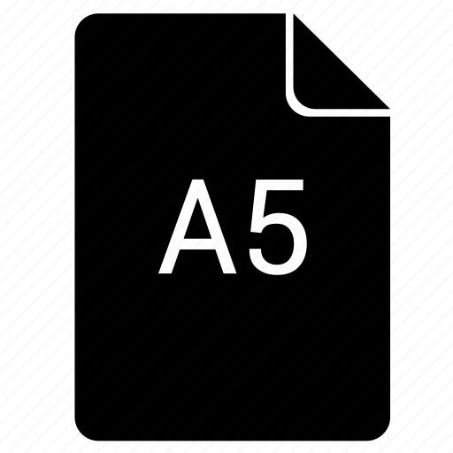 a5, format, paper, print icon