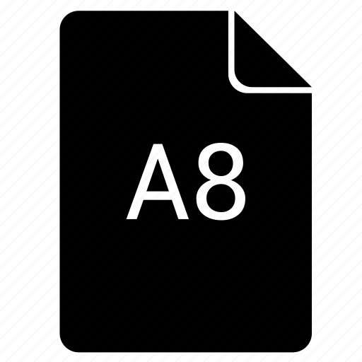 a8, format, paper, print icon
