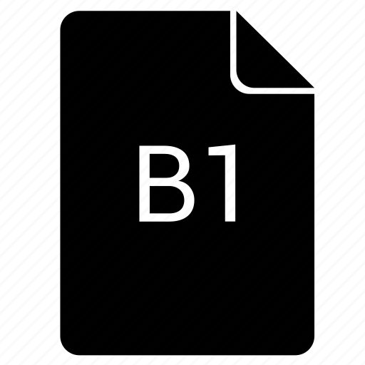 b1, format, paper, print icon