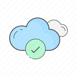 cloud, data, drive, saved, server, sync, updated icon