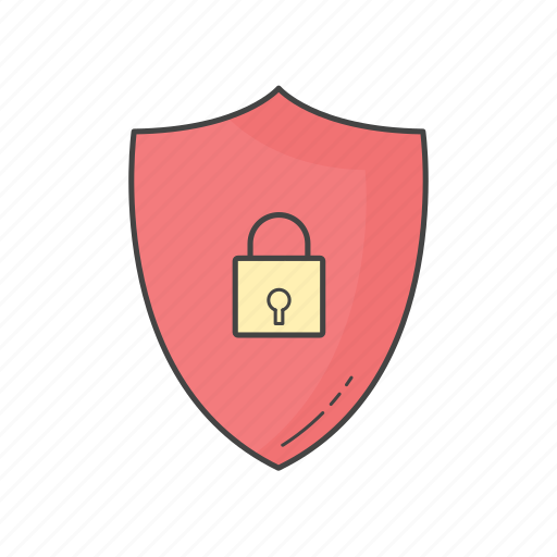 data, firewall, lock, protected, secured, security, shield icon