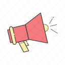 alert, announcement, offers, shout out, shoutout, sound, speaker icon