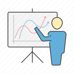 board, graph, growth, management, project, reports, stats icon