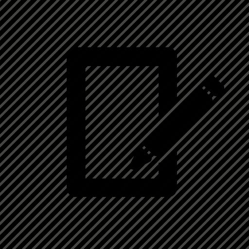 creative, document, edit, paper, pencil icon