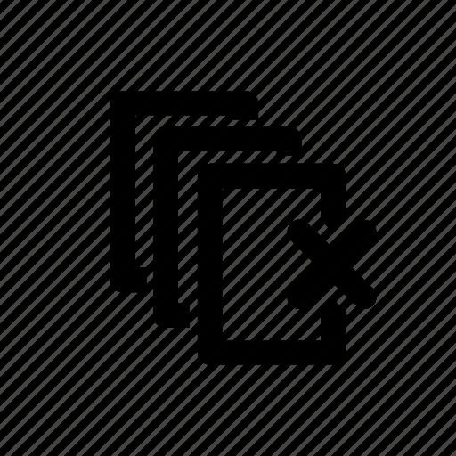 empty, folder, remove, stacks icon