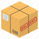 box, delivery, package, parcel, send, shipping icon