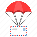 airmail, cargo, delivery, envelope, shipping icon