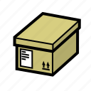 box, delivery, files, package icon