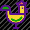 chicken, cock, france, rotisserie icon