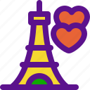 eiffel, france, love, tower icon