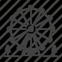 amusement, carnival, carousel, ferris, park, wheel icon